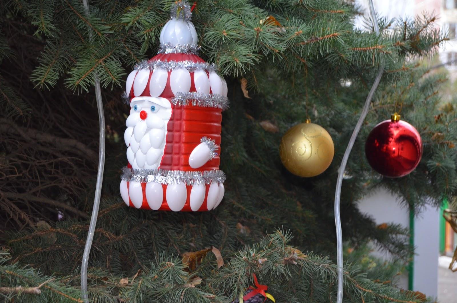 Новогодние игрушки своими руками из пластиковых бутылок не на ёлку