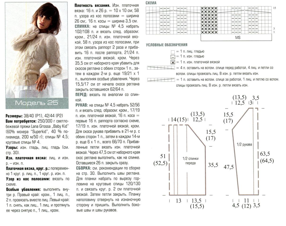 Схемы вязания из мохера с описанием 795