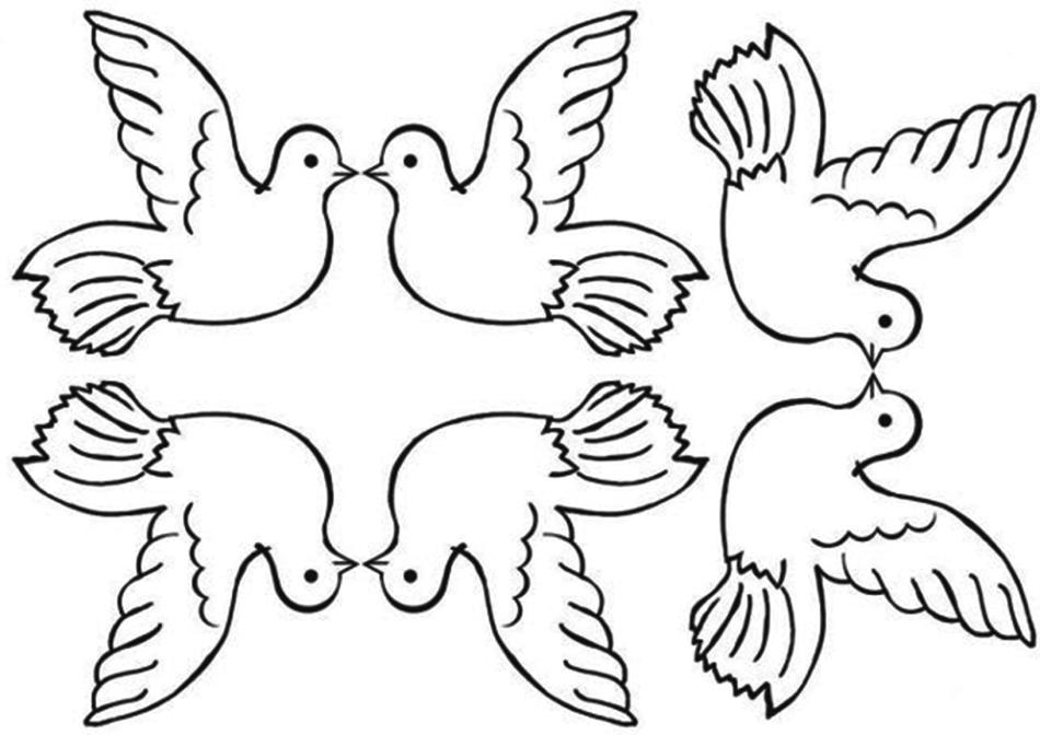 Вырезание голубя мира своими руками 46