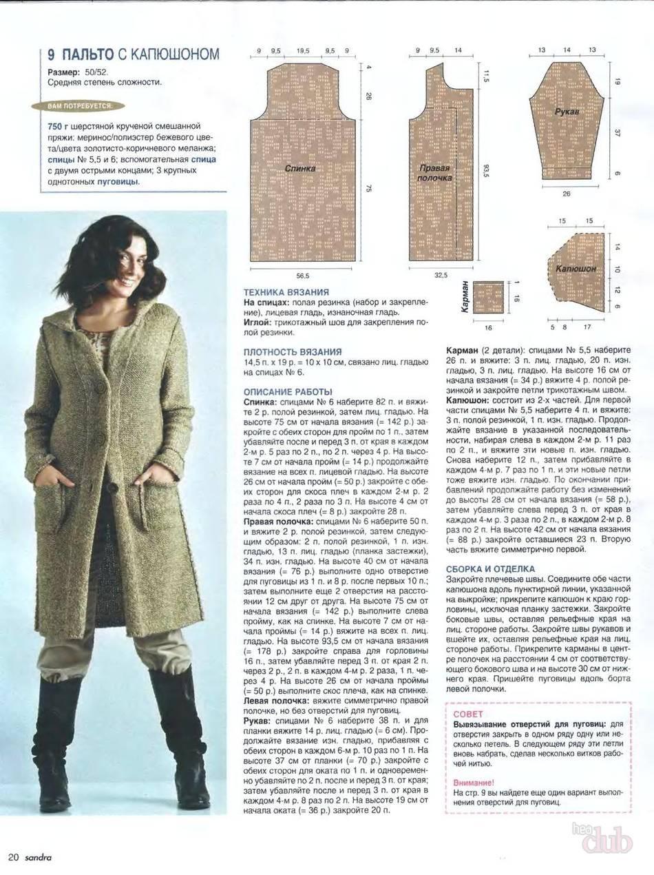 Вязание спицами для женщин на осень схемы 16