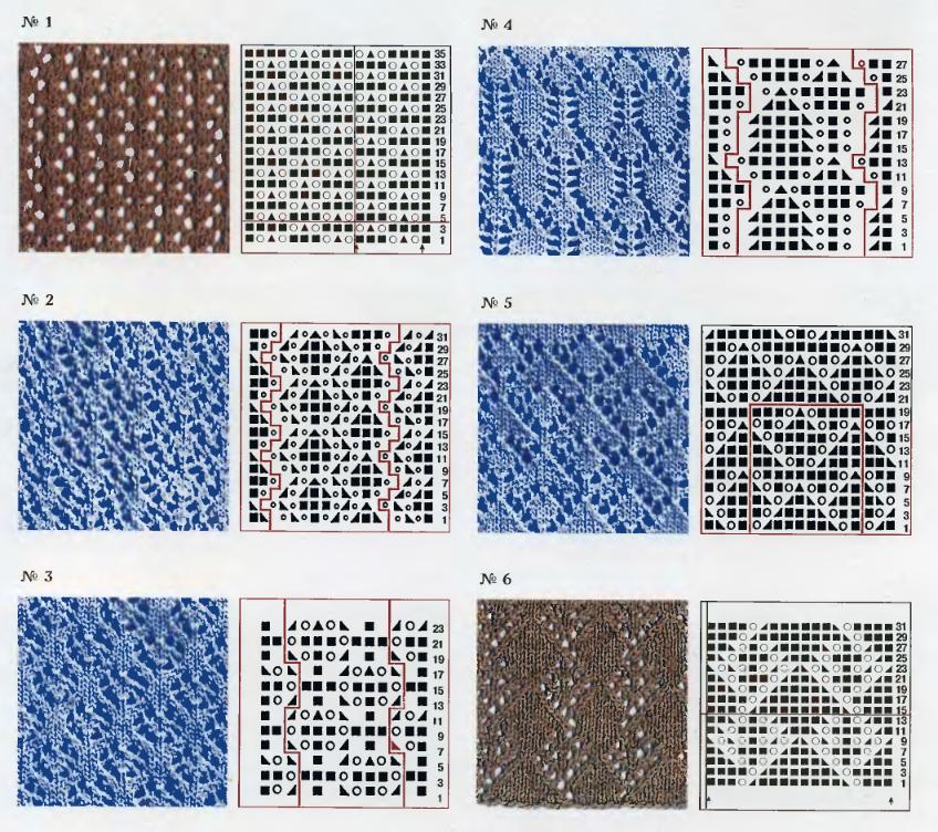 Самые простые схемы вязания для начинающих спицами