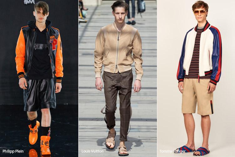 Носити бомбер можна і потрібно не тільки в контексті спортивного стилю або  з джинсами. Але і з класичними брюками або оригінальними шортами зі шкіри. 10b8edb7f1d52