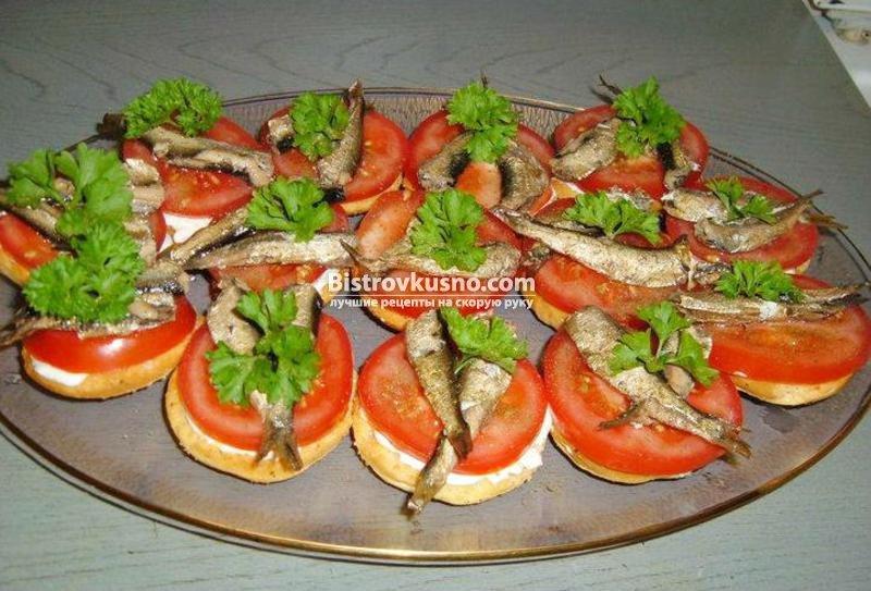 Бутерброды из шпротов рецепты простые и вкусные