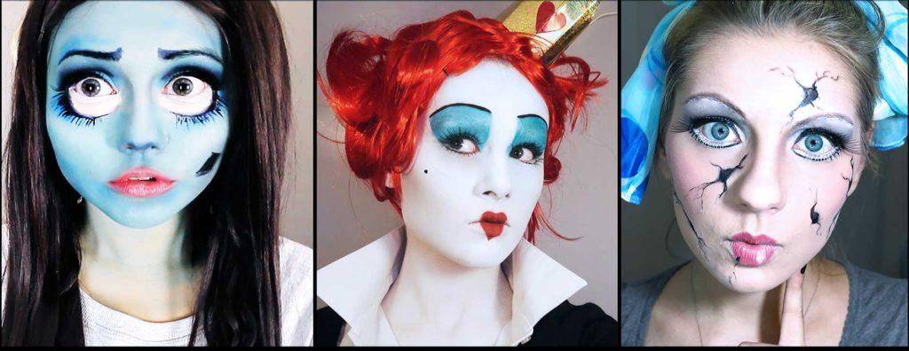 Макияж на хэллоуин для девушек своими руками фото пошагово 17