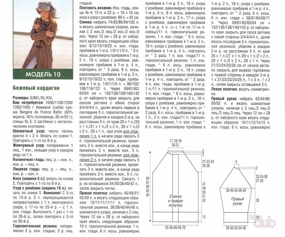 Узоры и схемы для вязания кардигана 38