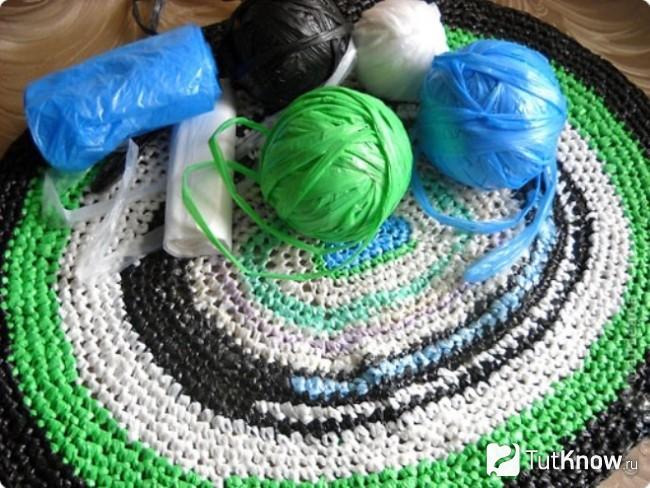 Вязание с пластиковых пакетов