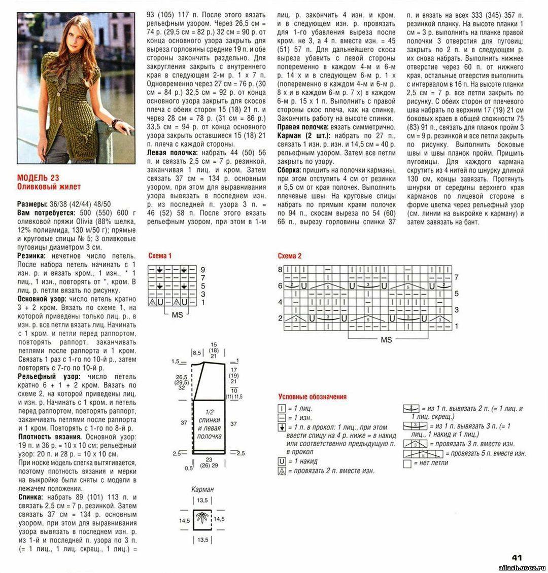 Схемы стильного вязания для женщин