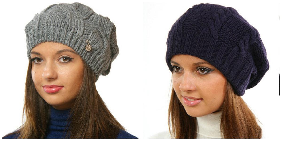 Модная женская шапка связанная своими руками 8