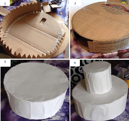 Каркас для торта из конфет из картона своими руками 65